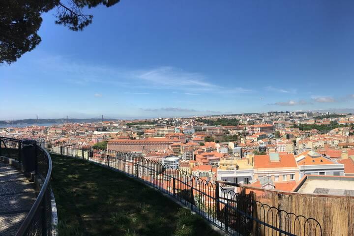 Aussichtspunkt Senhora Do Monte In Lissabon Portugal 360